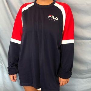 Vintage FILA Sport Long Sleeve Jersey Top